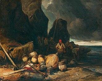 Eugène Isabey - Image: Eugène Isabey Schmuggler am Strand