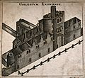 Exeter College, Oxford; bird's eye view. Wood engraving. Wellcome V0014107.jpg