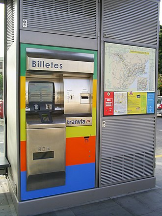 Tenerife Tram - Ticket machine