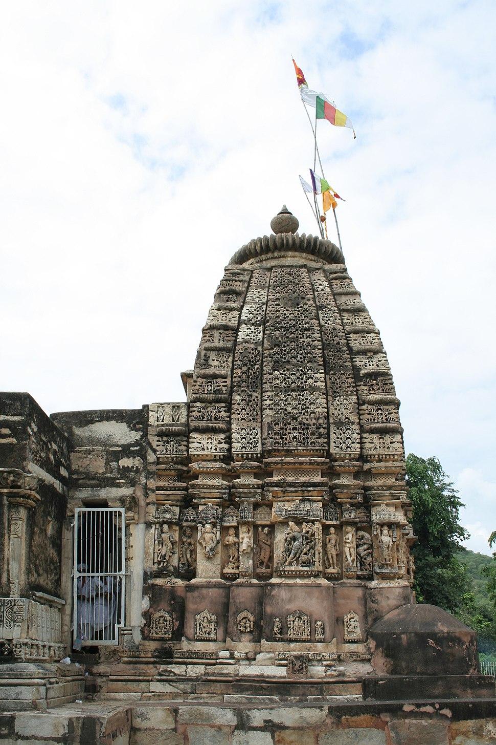 Exterior, Neelkanth temple, Alwar district, Rajasthan, India