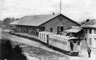 History of Los Angeles - The Los Angeles & San Pedro Railroad was the first railroad in Los Angeles, photo ca.1880