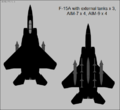 F-15A Eagle two-view silhouette showing external stores.png