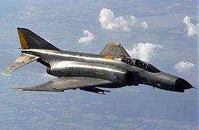 Un F-4F Phantom II allemand en vol lors d'une mission en octobre 1997