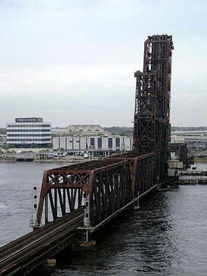FEC Strauss Trunnion Bascule Bridge - Florida East Coast Railway bascule bridge in Jacksonville, Florida