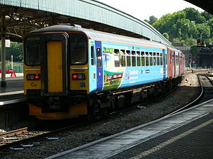 Community rail - The special livery on 153329 promotes the St Ives Bay Line