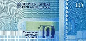 Finnish markka - 10 markkaa obverse