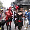 Mardi Gras-firare i The French Quarter i New Orleans.