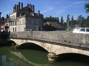 Clamecy, Nièvre - Bridge over the Beuvron