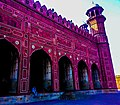 Facade of Badshahi Mosque in courtyard.jpg
