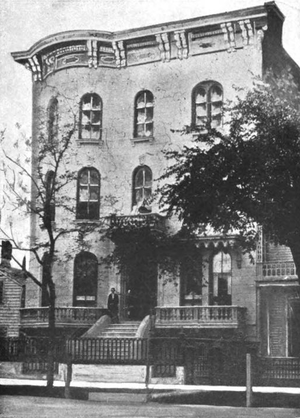 Chicago Club - The first home of the Chicago Club, the Farnam mansion on Michigan Avenue