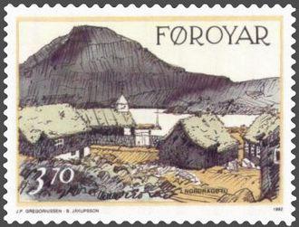 Norðragøta - Image: Faroe stamp 232 husini hja peri