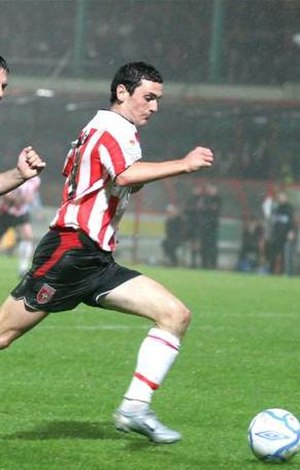 Mark Farren - Farren embarking on a mazy run.