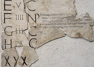 Floralia - Fragment of the Fasti Praenestini showing a note on the Ludi Florae
