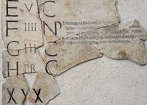 Verrius Flaccus - Section of the Fasti Praenestini