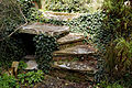 Feeringbury Manor garden steps, Feering Essex England - high sun.jpg