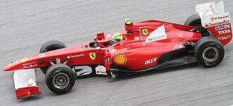 Ferrari 150° Italia - Image: Felipe Massa 2011 Malaysia FP1