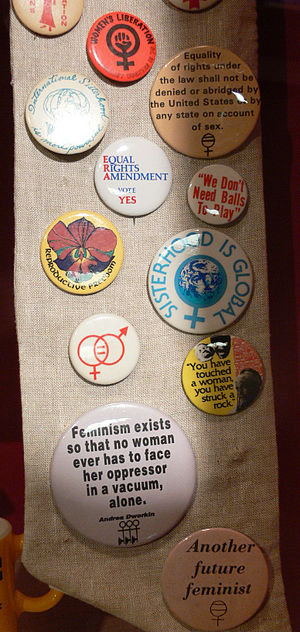 Feminist pin buttons The Women's Museum, Dalla...