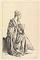 Femme assise, de profil à droite, jouant de l'eventail MET DP825481.jpg