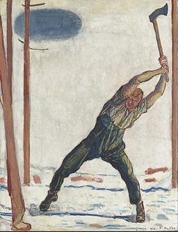 Fernidand Hodler - The Woodcutter - Google Art Project