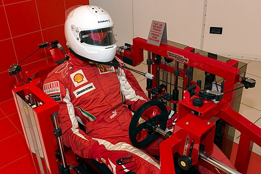 Ferrari Drivers Training Machine driver-right Museo Ferrari