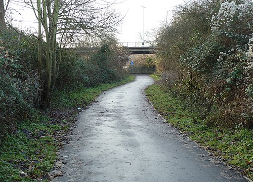 Festival Way footpath-cycleway from Ashton Bridge, Bristol - geograph.org.uk - 2254188