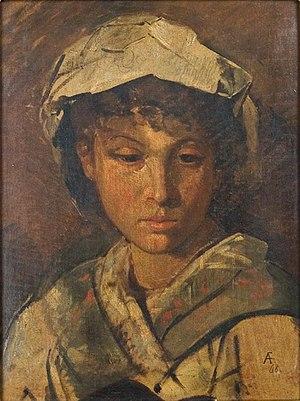 Leo Baeck Institute New York - Feuerbach-mädchenkopf, 1868, oil on canvass