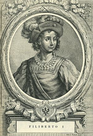 Philibert I, Duke of Savoy - Etching by Francesco Maria Ferrero di Lavriano (1702)