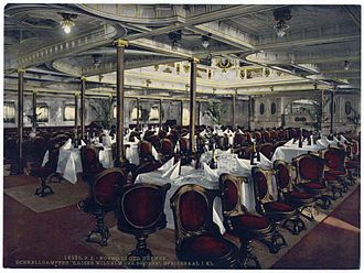 SS Kaiser Wilhelm der Grosse - The First Class Dining Room of Kaiser Wilhelm der Grosse