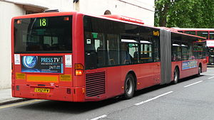 Articulated buses in London - First London Mercedes-Benz Citaro O530G on route 18 at Euston in June 2009