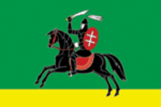 Nevel (town) - Image: Flag of Nevelsky rayon (Pskov oblast)