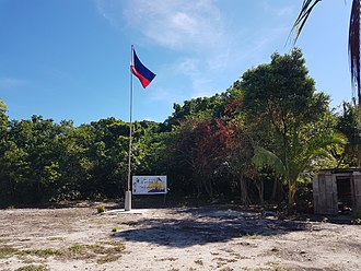 Panguan Island - The southernmost flagpole in the Philippines at Panguan Island, Tawi-Tawi. Put up on April 29, 2017 by the 10th Philippine Marines Battalion Landing Team after it was secured from a decade of occupation by the Abu Sayyaf terror group.