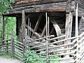 Flax Mill, waterwheel, Skansen, Stockholm.jpg