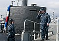 Flickr - Official U.S. Navy Imagery - Cmdr. Thomas A. Winter, commanding officer of the Los Angeles-class fast attack submarine USS Montpelier (SSN 765), salutes as he steps off the brow..jpg