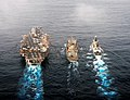 Flickr - Official U.S. Navy Imagery - USS Abraham Lincoln, USNS Guadalupe and HMS Daring conduct a replenishment-at-sea..jpg