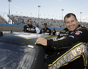 NASCAR driver Ryan Newman slips into the Army ...