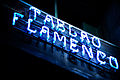 Fluorescent street sign, Barcelona, Catalonia, Spain.jpg