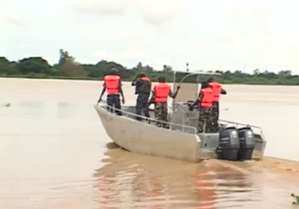 Gendarmerie Nationale (Niger) - The fluvial brigade of the National Gendarmerie of Niger on a training on the Niger river in Niamey
