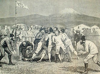 Japan national rugby union team - Rugby game in Yokohama, 1874