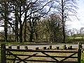 Footpath crossing Easthampstead Park drive - geograph.org.uk - 1219246.jpg
