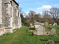 Footpath through churchyard, south side of Wetherden church - geograph.org.uk - 744955.jpg