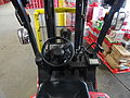 Forklift interior at the Coca-Cola Bottling Company of Cape Cod.jpg