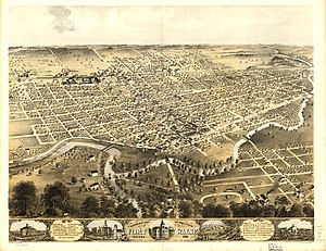 Fort Wayne, Indiana - A lithograph of Fort Wayne (1868).