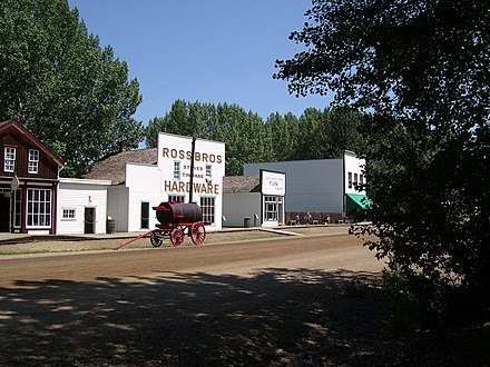 Fort Edmonton Park is Canada's largest living museum by area. Fort Edmonton 1900.jpg