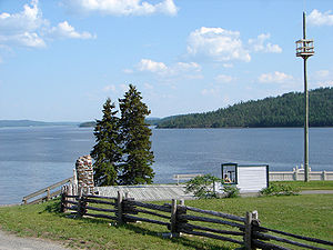 Lake Timiskaming - Looking south over Lake Timiskaming from Fort Témiscamingue near Ville-Marie, Quebec.
