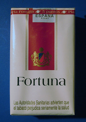 Fortuna (cigarette) - Image: Fortuna cigarettes (Spain) front
