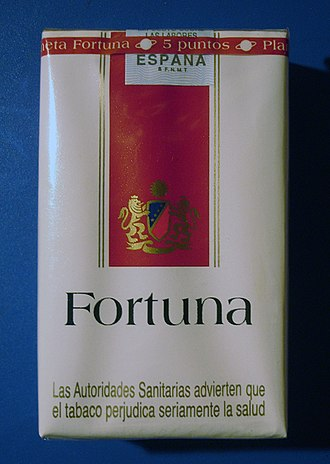 Imperial Brands - Image: Fortuna cigarettes (Spain) front