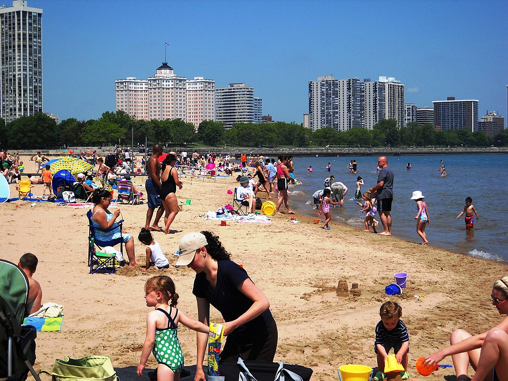 Foster Beach, Edgewater, Chicago