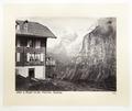 Fotografi av berg och stuga i Schweiz - Hallwylska museet - 103178.tif