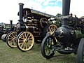 Fowler traction engine 'Foremost' and Aveling & Porter traction engine 'Avellana' (15451008766).jpg