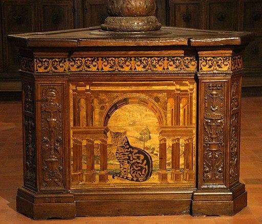 Fra raffaele da Verona, badalone coro intarsiato di Monte Oliveto Maggiore, 1520